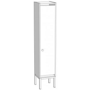 Шкаф для раздевания 1 секционный на м/к