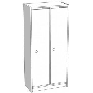 Шкаф для раздевания 2-х секционный