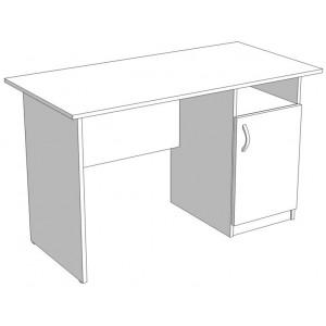 Стол офисный однотумбовый