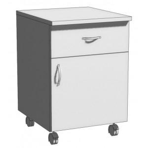 Тумба офисная однодверная с ящиком